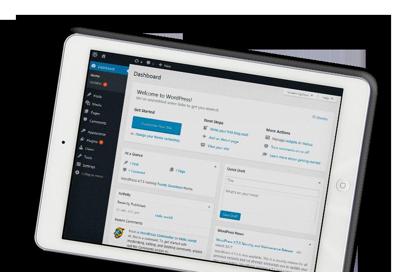 WordPress on iPad