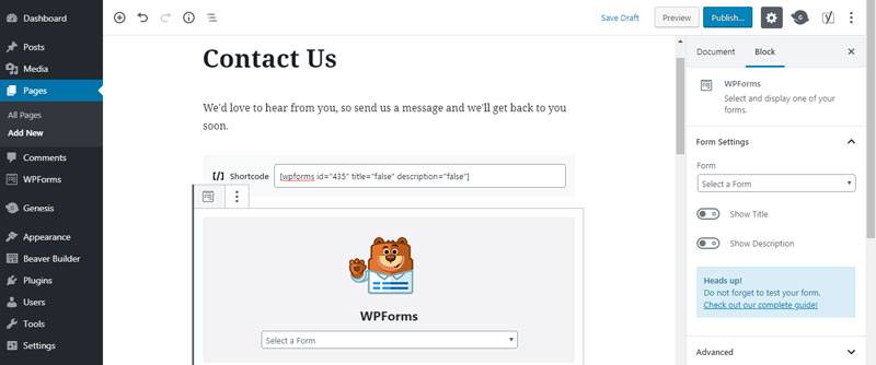 In today's easy website tip, I'll show you how to create a contact form with WPForms, the drag and drop form builder plugin for WordPress.
